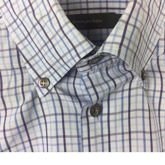 a1b87a8db6 Ermenegildo Zegna Shirts | Blue Purple Plaid Shirt Large | Poshmark